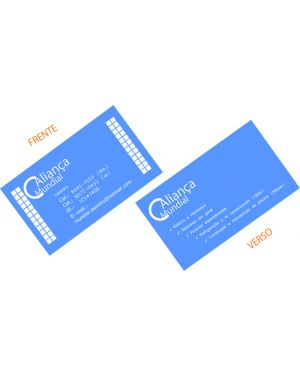 Cartão de Visita Verniz Total Frente Couchê Brilho 4X4 1.000 un.