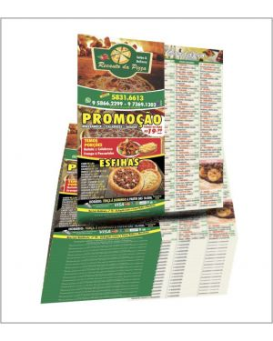 Filipeta, Flyers e Panfletos 10x20 4x4 5.000 un.