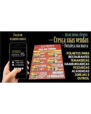Flyers e Panfletos Sulfite 10x14 4x0 1.000 un.