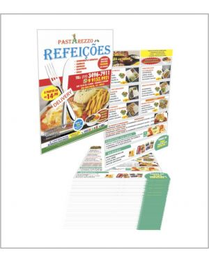 Flyers e Panfletos 14x20 4x4 10.000 un.