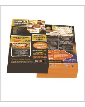 Flyers e Panfletos 10x14 4x4 5.000 un.