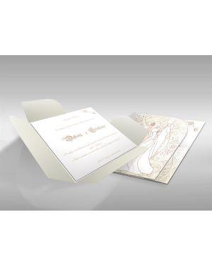 Convite de Casamento Moderno 04 - 50un.
