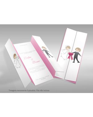 Convite de Casamento Moderno 06 - 50un.