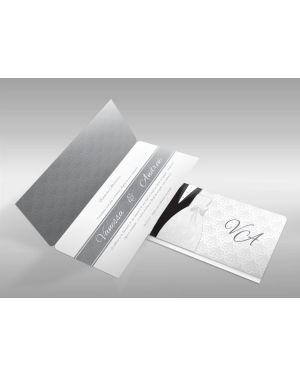 Convite de Casamento Moderno 07 - 50un.