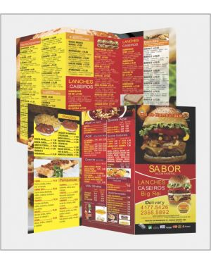 Flyers e Panfletos 20x28 4x4 2.500 un.