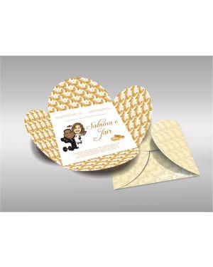 Convite de Casamento Especial 08 - 50un.