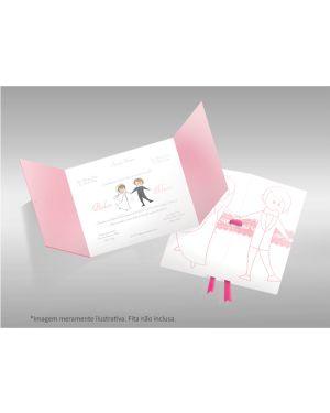 Convite de Casamento Moderno 05 - 50un.