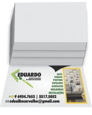Cartão de Visita Verniz Total Frente Couchê Brilho 4X0 3.000 un.