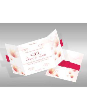Convite de Casamento Romântico 04 - 50un.